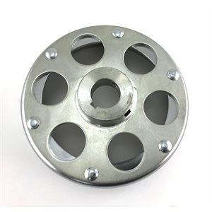 "6""Chrome Brake Drum & Hub"