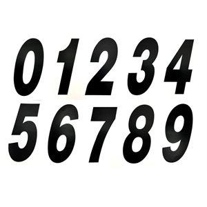 """Stick-on 6"""" slanted number (BLACK)"""