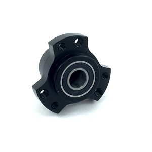 "Front wheel hub, 5 / 8"", Black (includes hardware)"