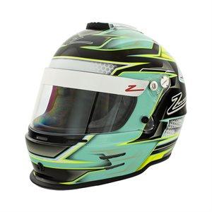 Zamp RZ-42Y Youth Helmet - Green / Silver Graphic