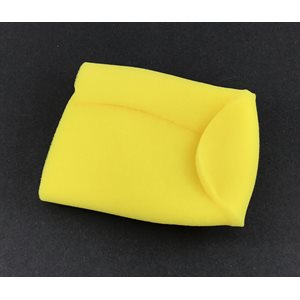 "Prefilter, foam 3-3 / 4"" x 6"" closed end (yellow)"