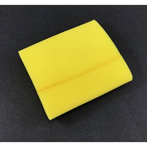 "Prefilter, foam 3-3 / 4"" x 6"" (yellow)"