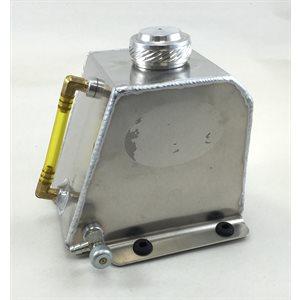 "Aluminum kid kart fuel tank, 6"" x 4"" x 5-1 / 4"" (2 QT)"