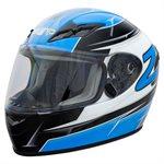 Zamp FS9 Helmet - Blue & Silver Graphic