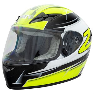 Zamp FS9 Helmet - Green & Black Graphic