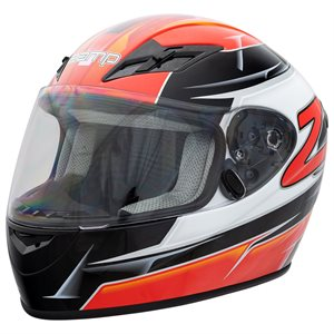 Zamp FS9 Helmet - Red & Black Graphic