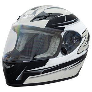 Zamp FS9 Helmet - Silver / Black Graphic