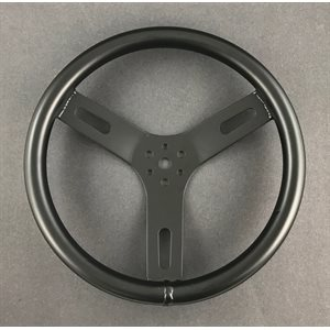 "Steering wheel, 12"" aluminum (black)"